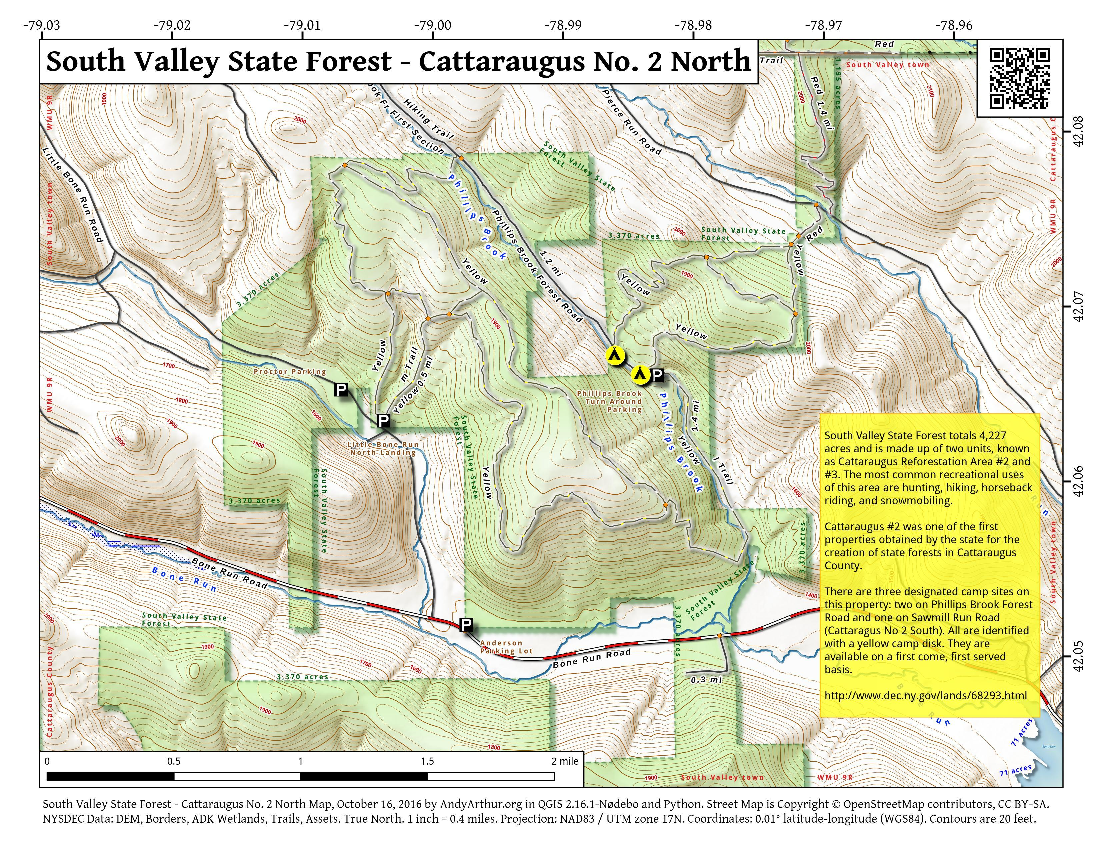 Map: South Valley State Forest – Cattaraugus No. 2 North