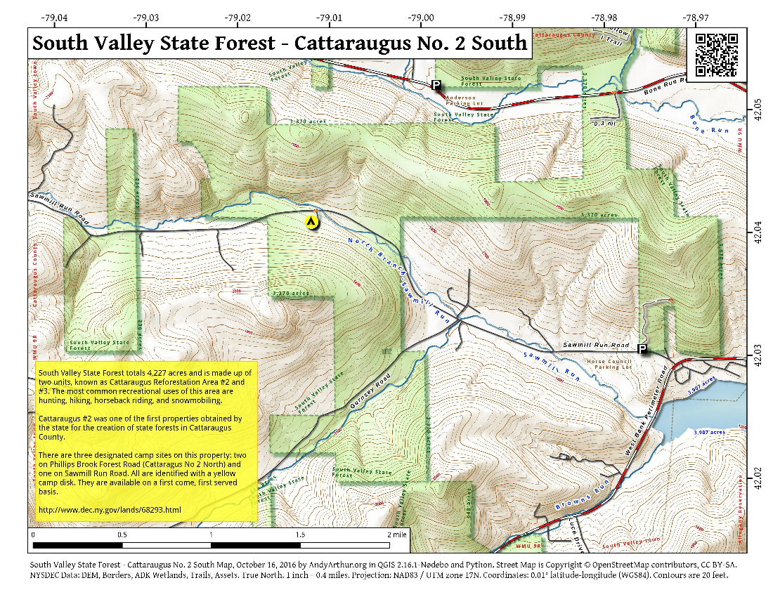 Map: South Valley State Forest –  Cattaraugus No. 2 South