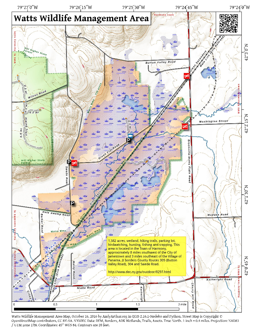 Watts flats wma andy for Nys fishing license cost