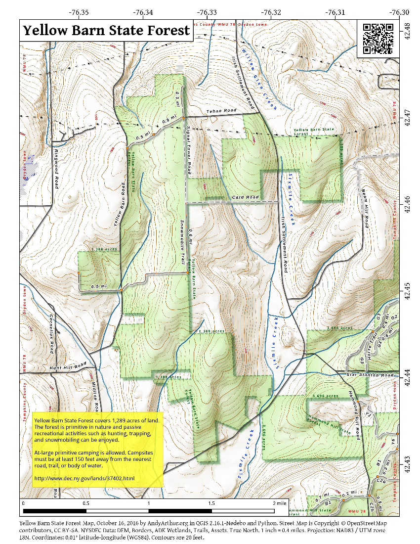 Map: Yellow Barn State Forest