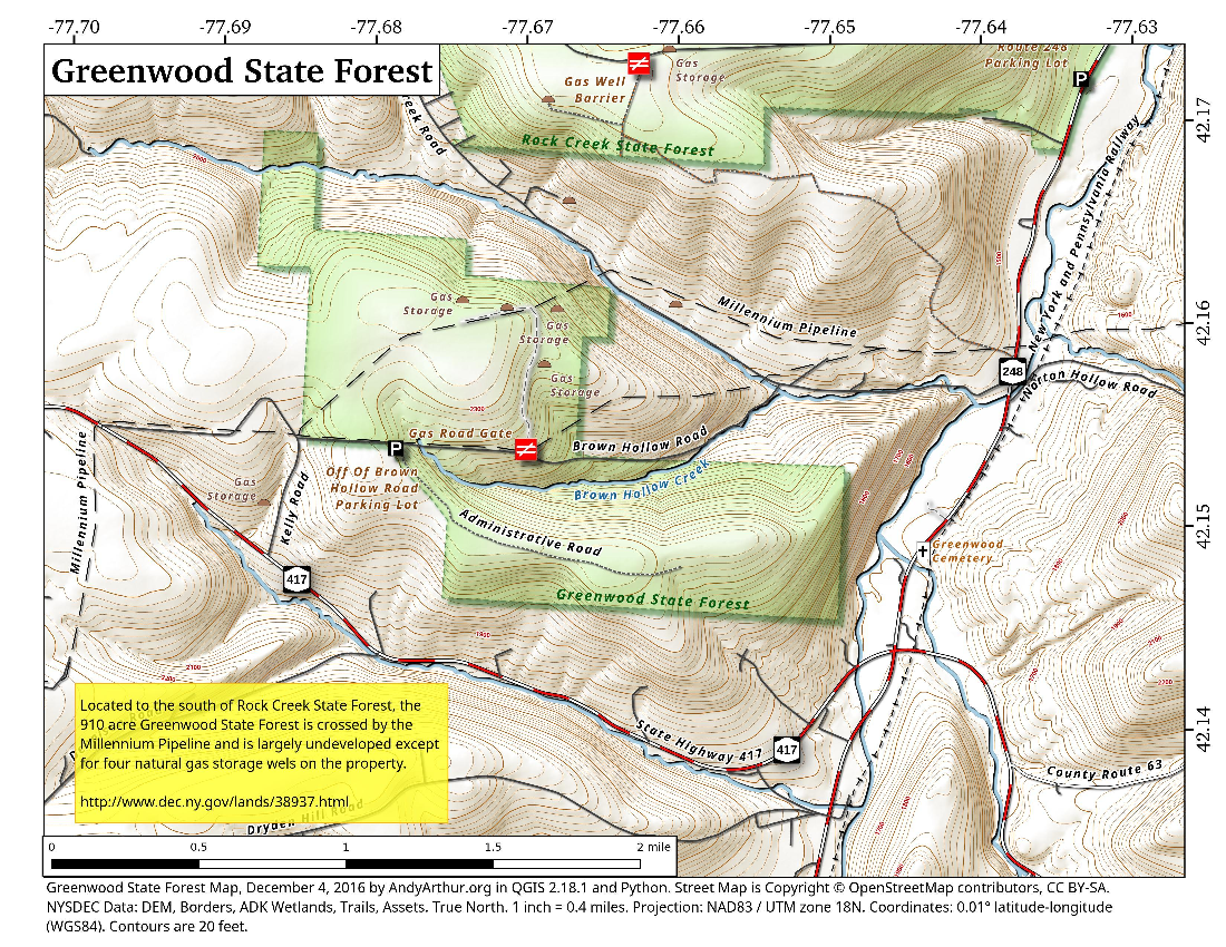 Map: Greenwood State Forest