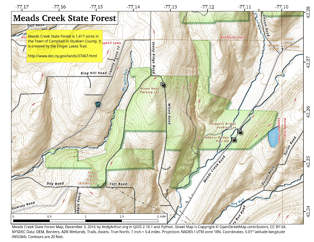 Map: Meads Creek State Forest