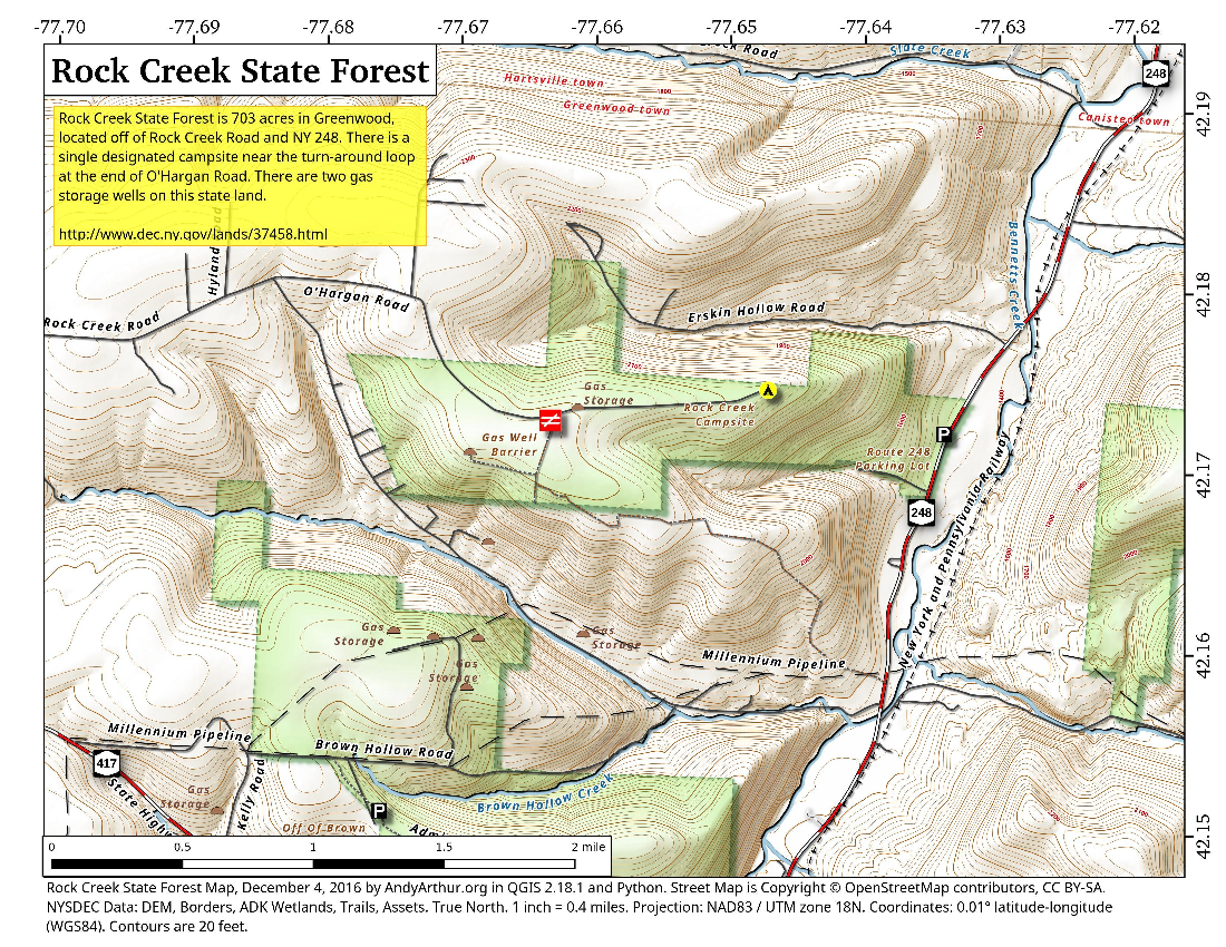 Map: Rock Creek State Forest