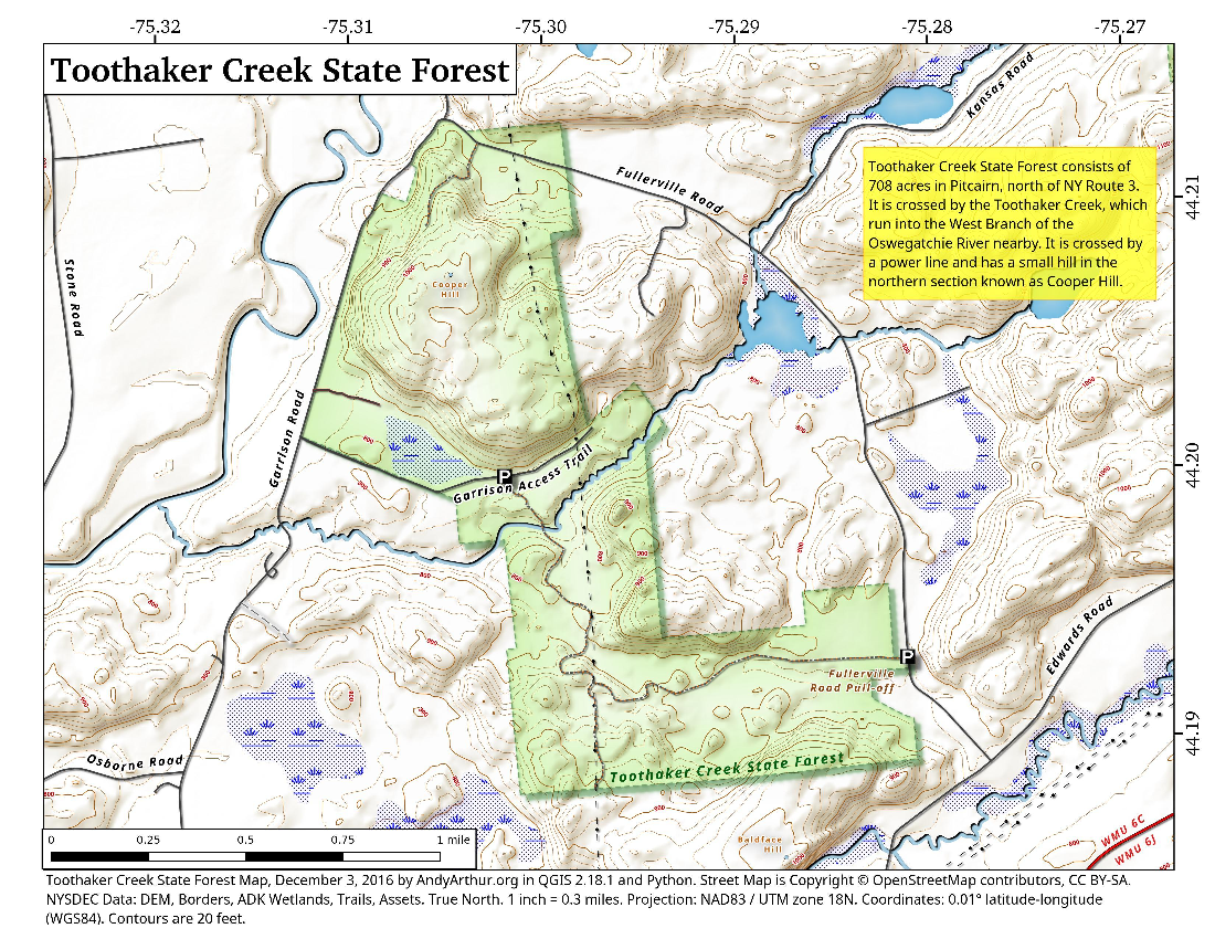 Map: Toothaker Creek State Forest