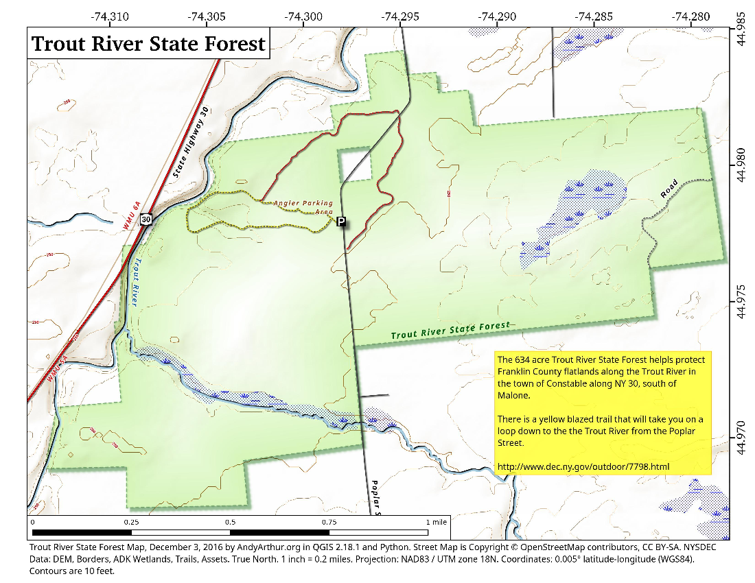 Map: Trout River State Forest