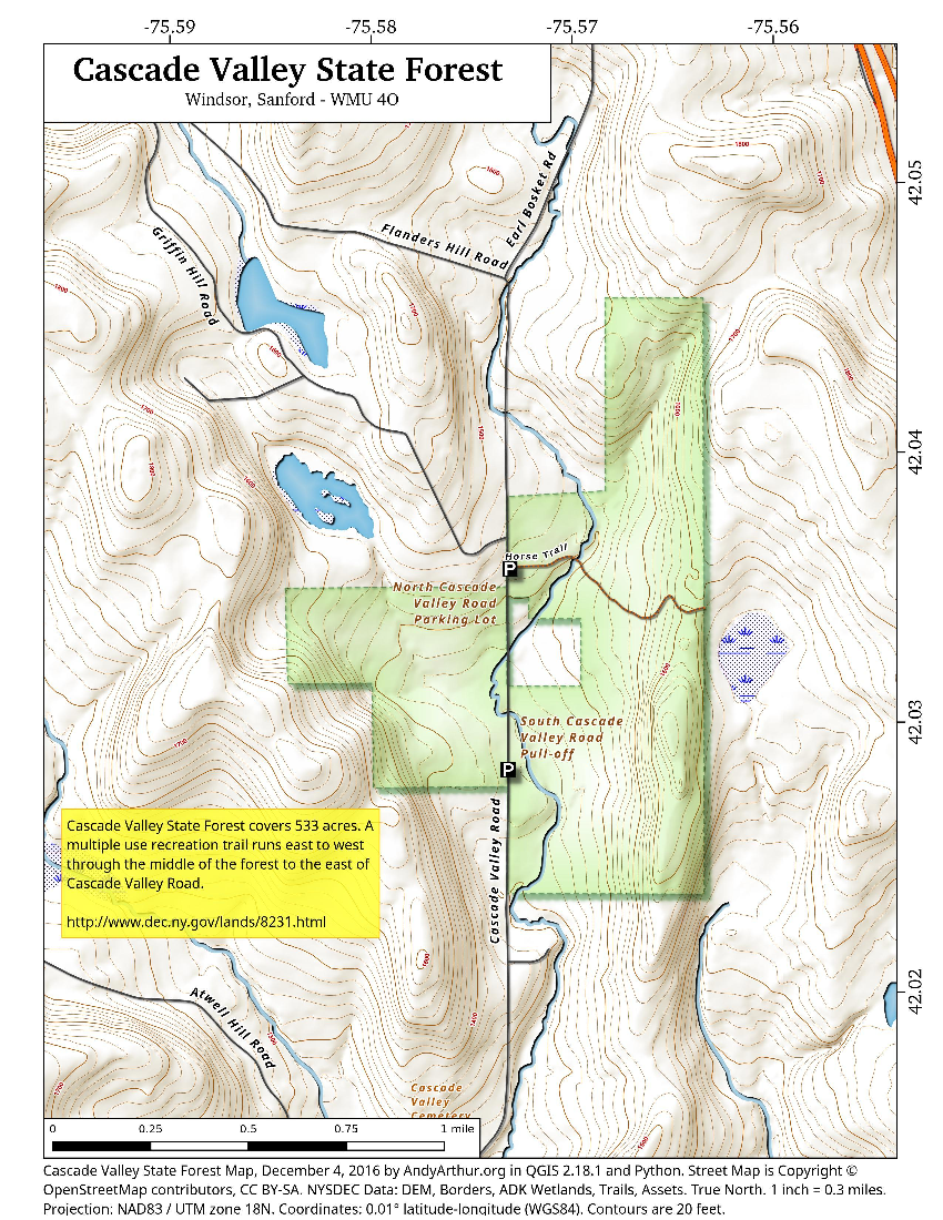 Map: Cascade Valley State Forest