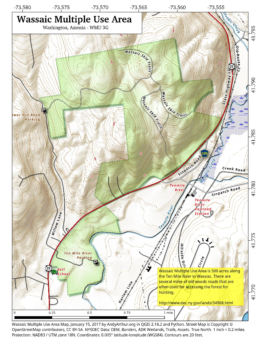 Map: Wassaic Multiple Use Area