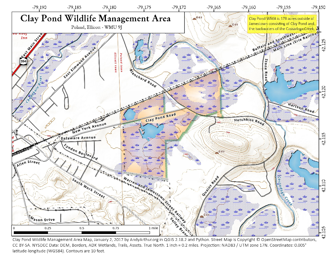 Map: Clay Pond Wildlife Management Area
