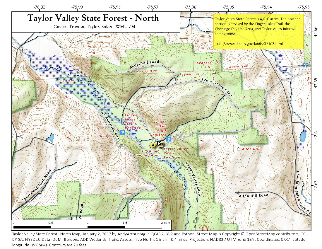 Map: Taylor Valley State Forest   North