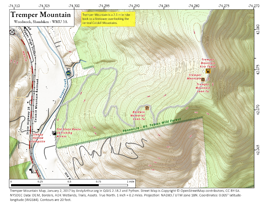 Map: Tremper Mountain