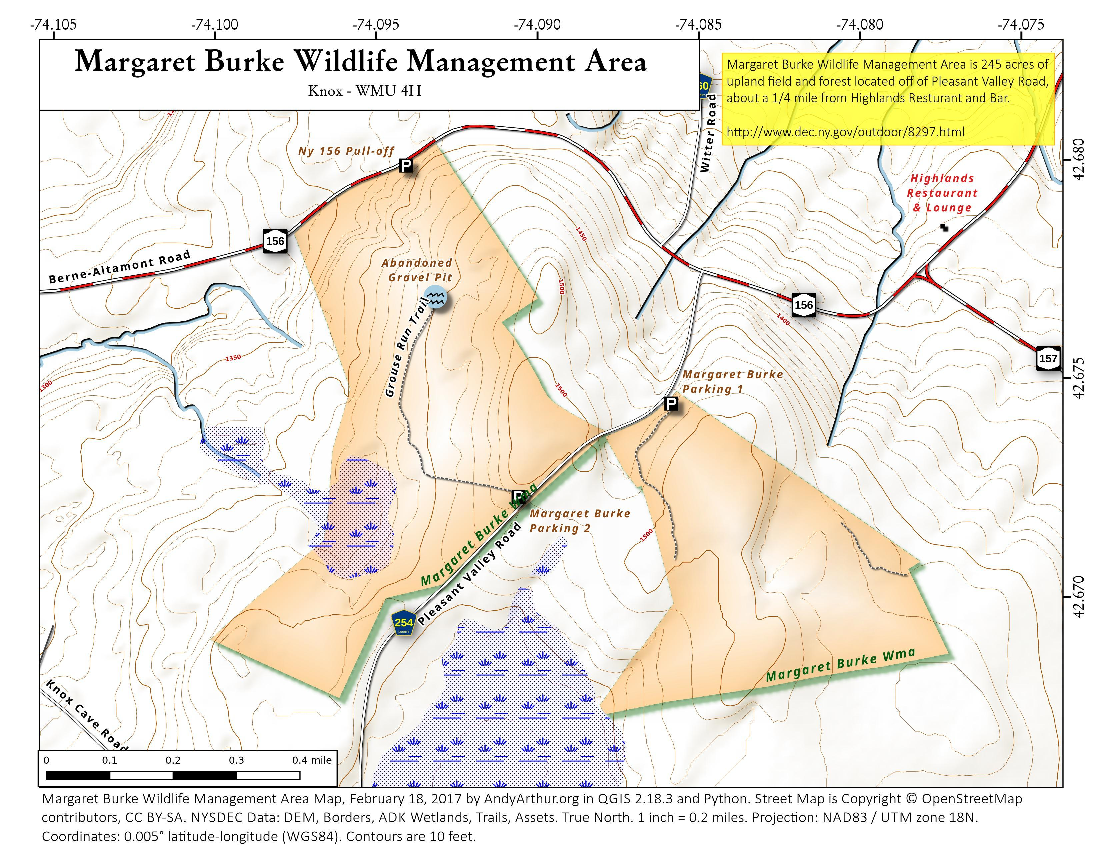 Map: Margaret Burke Wildlife Management Area