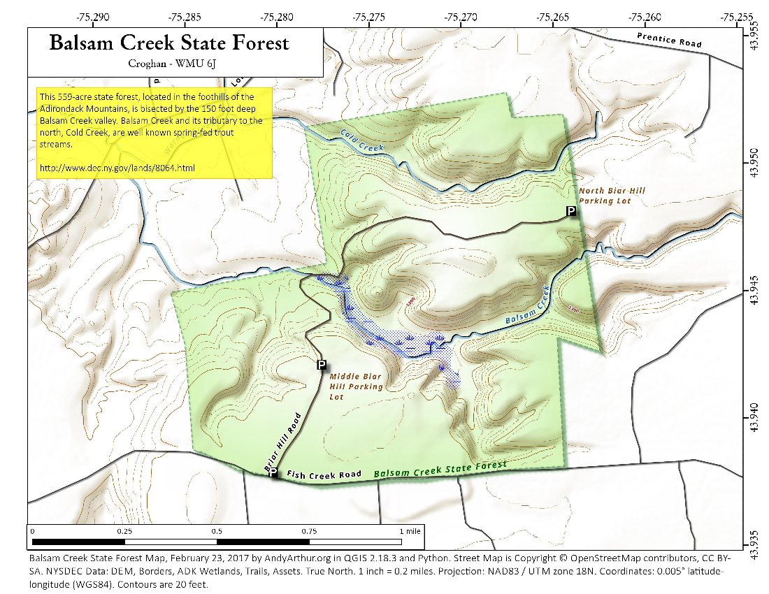 Map: Balsam Creek State Forest
