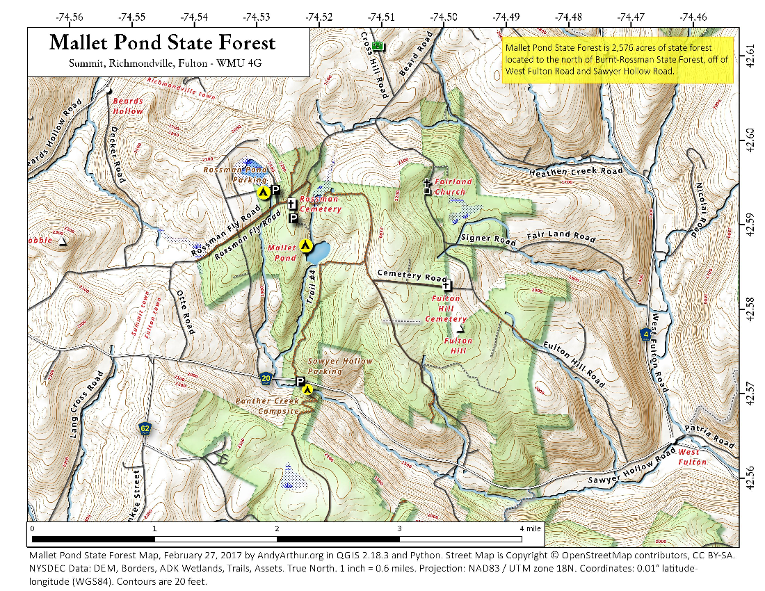 Map: Mallet Pond State Forest