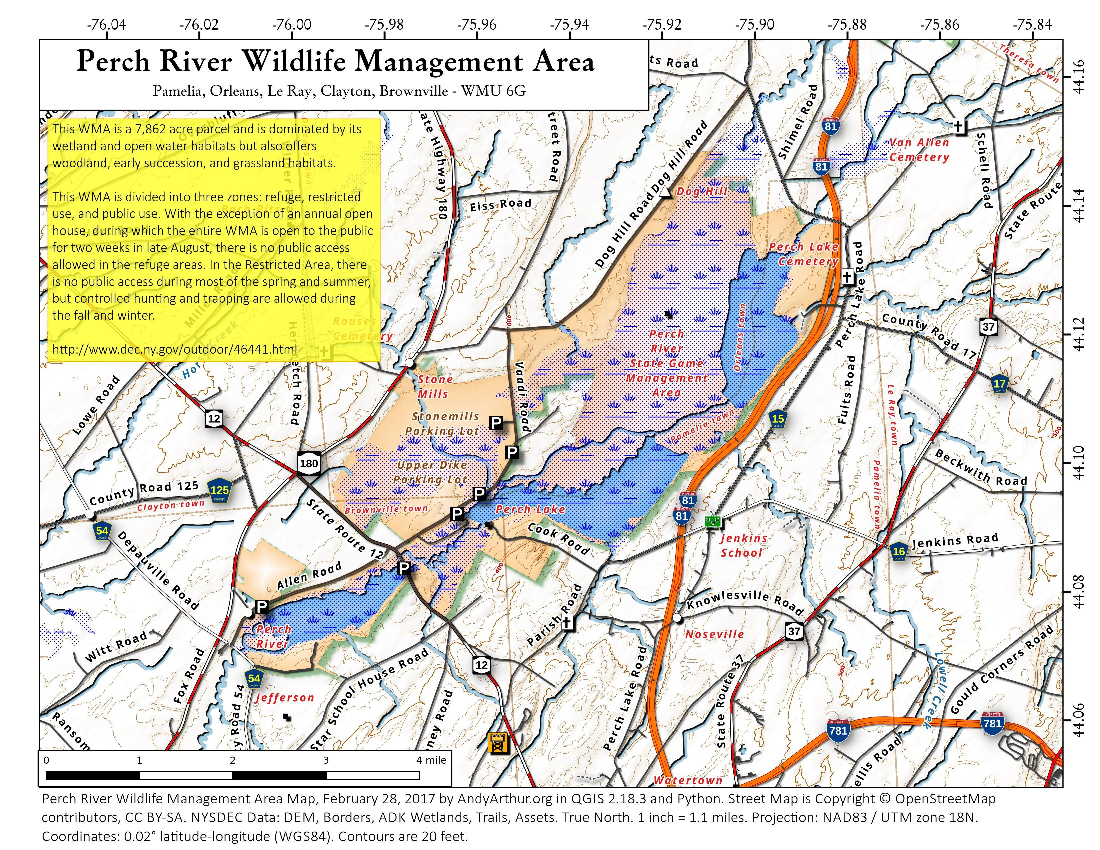 Map: Perch River Wildlife Management Area