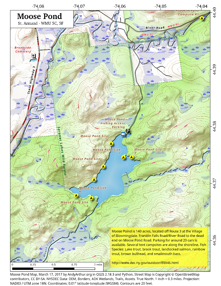 Map: Moose Pond