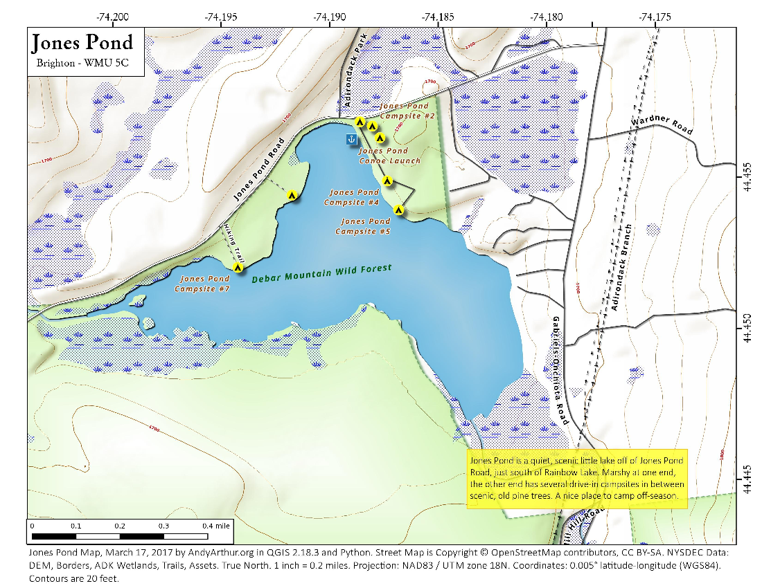 Map: Jones Pond