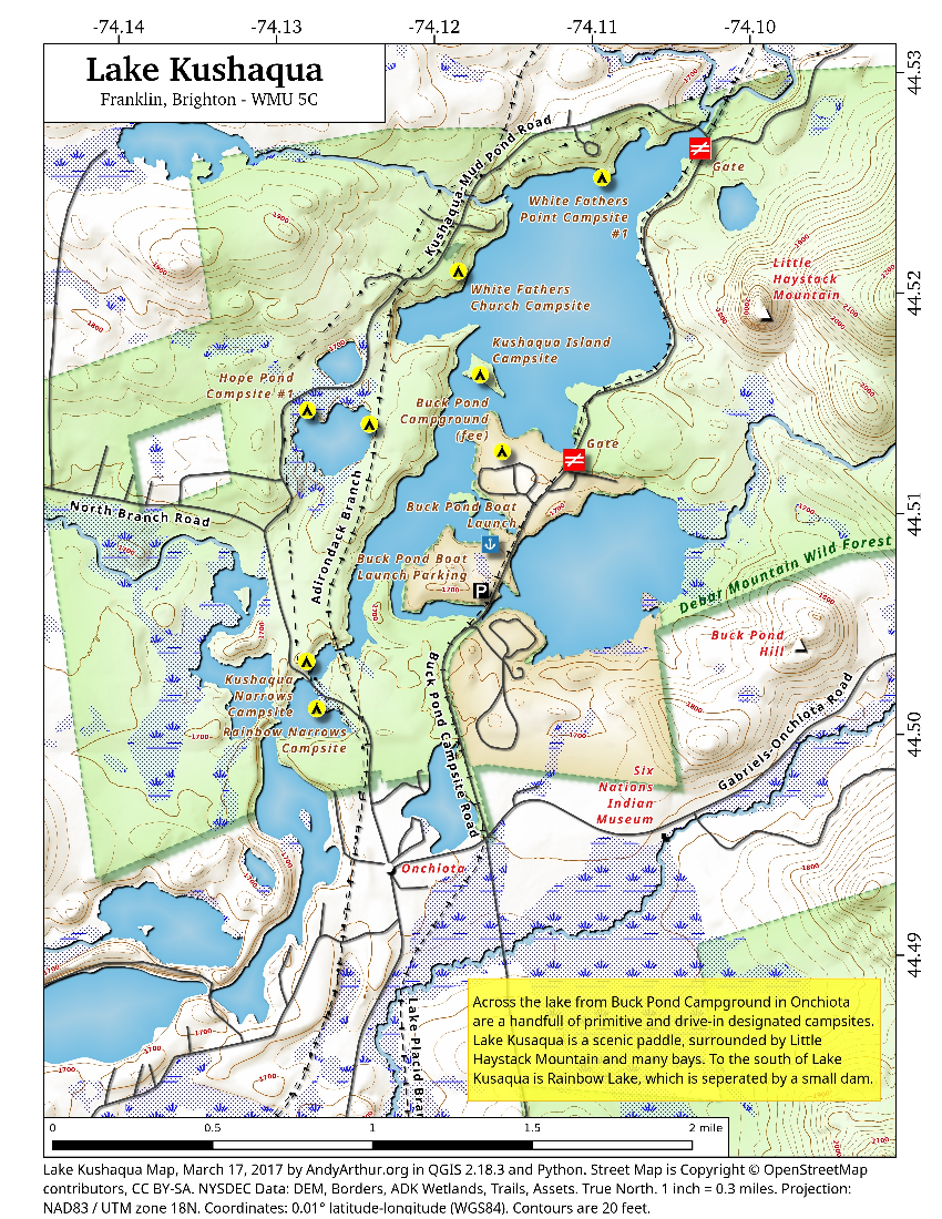 Map: Lake Kushaqua