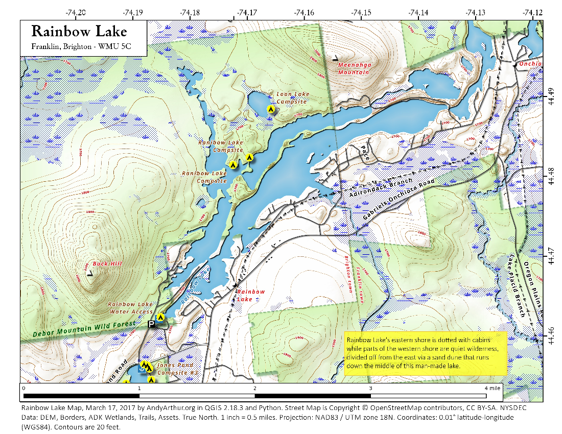 Map: Rainbow Lake