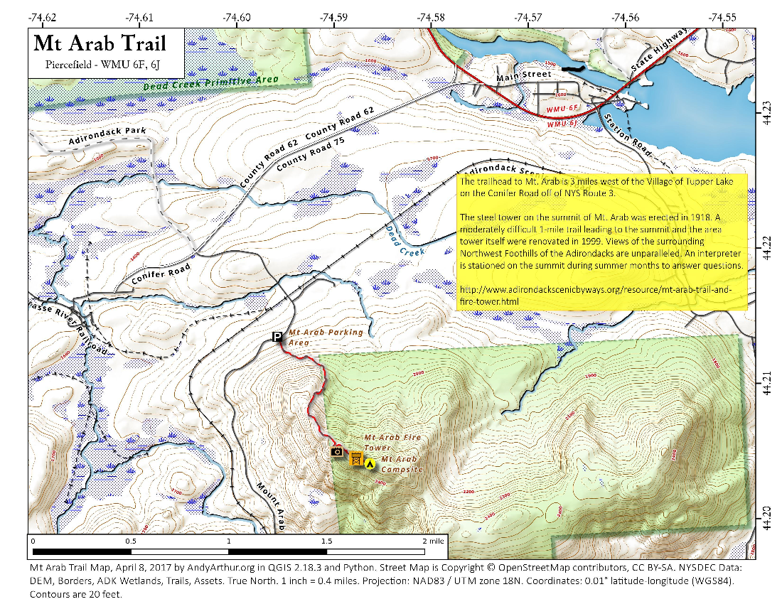 Map: Mt Arab Trail