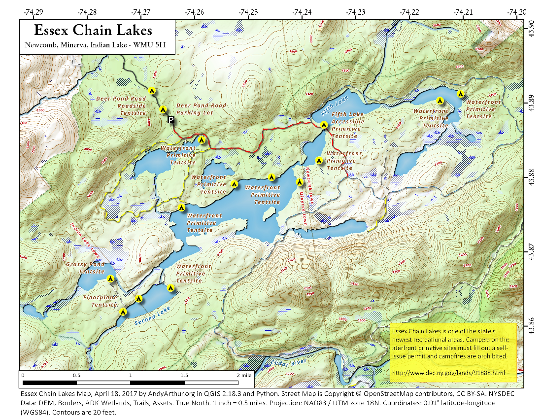 Map: Essex Chain Lakes