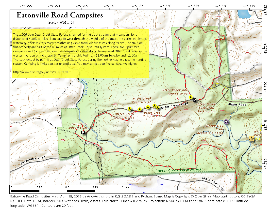 Map: Otter Creek State Forest