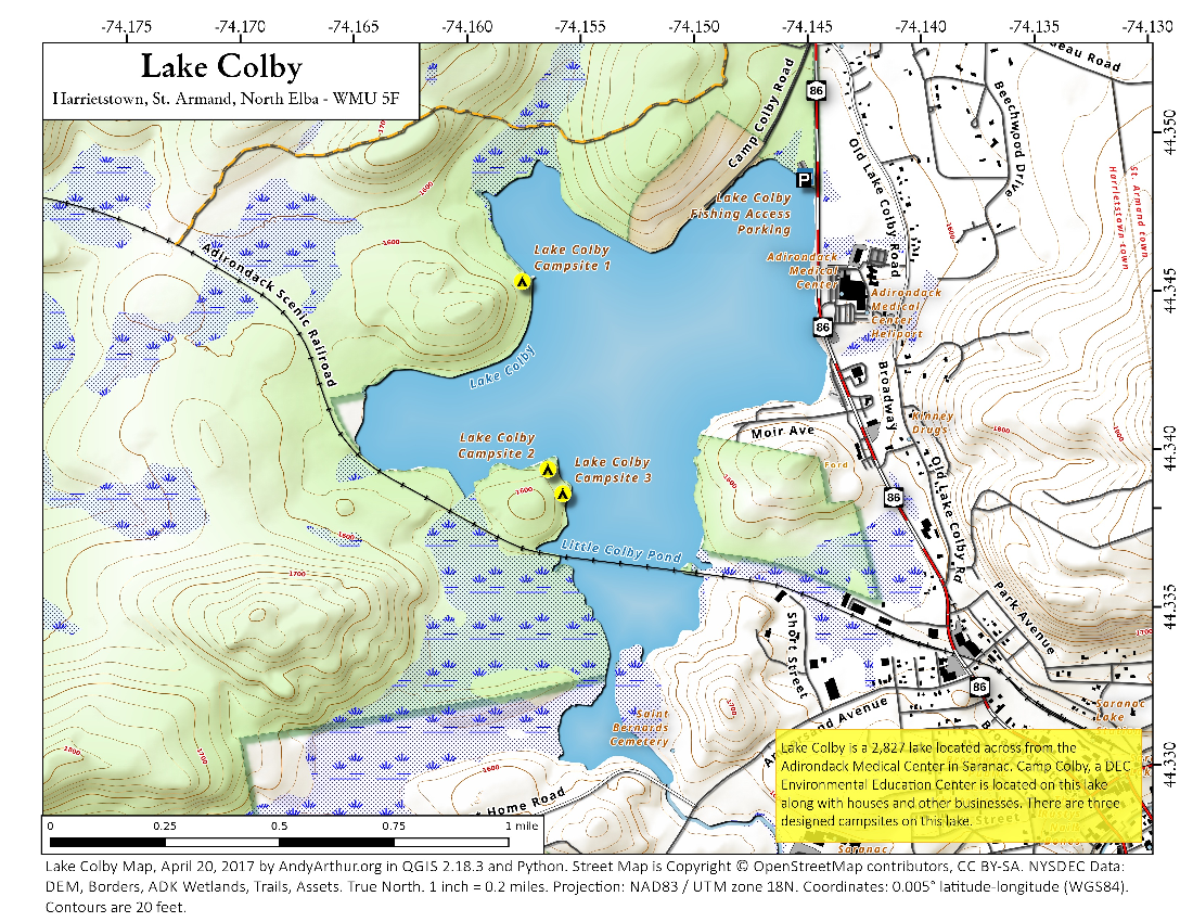 Map: Lake Colby