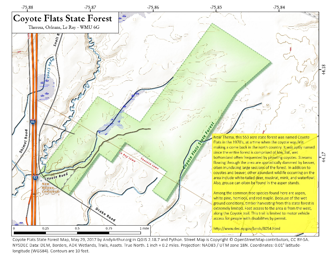 Map: Coyote Flats State Forest