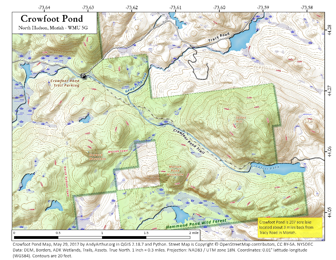 Map: Crowfoot Pond