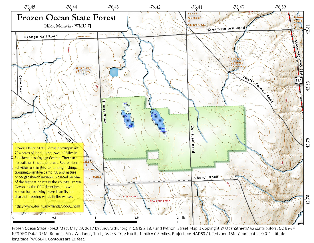 Map: Frozen Ocean State Forest