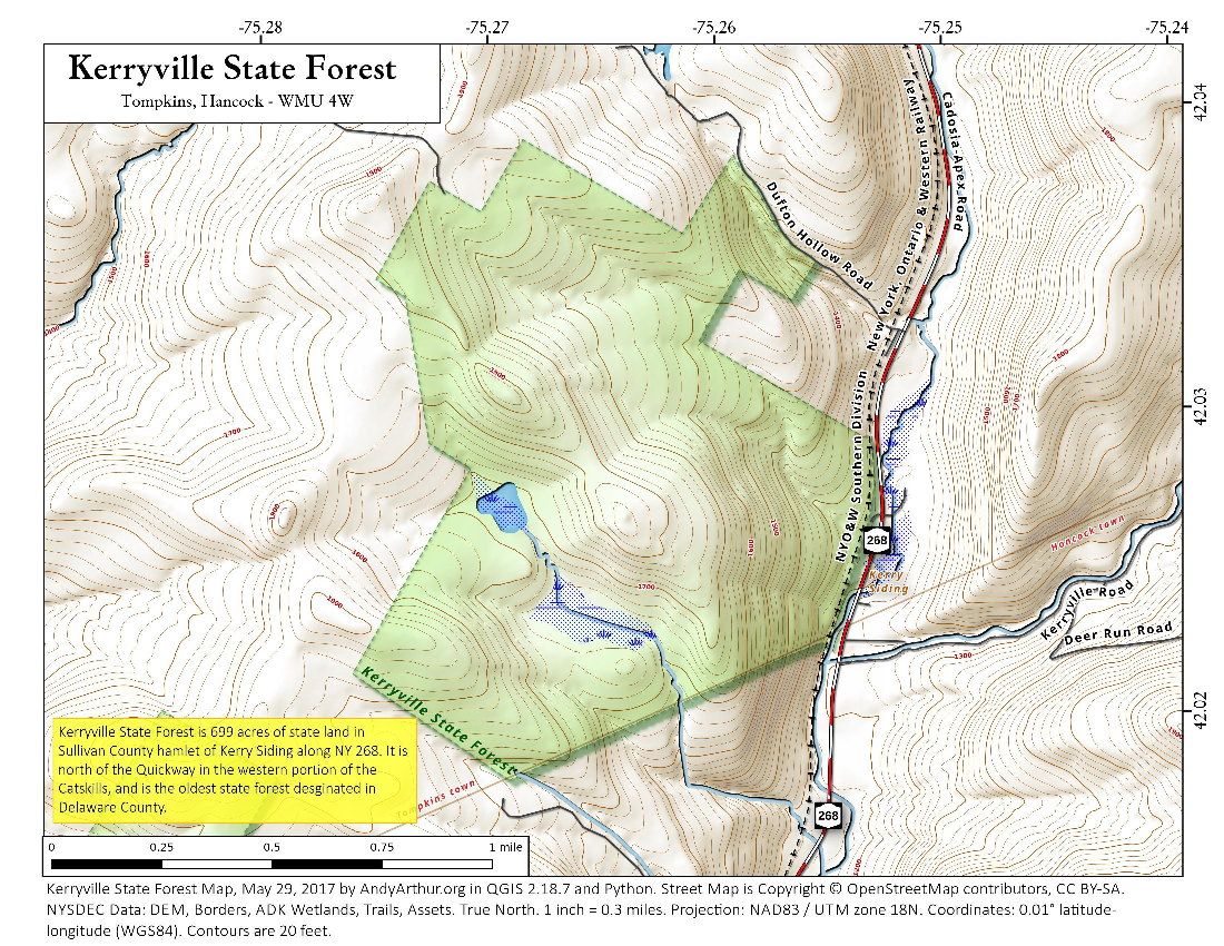 Map: Kerryville State Forest