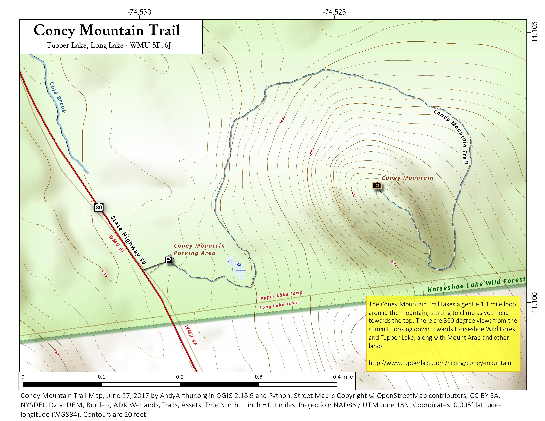 Map: Coney Mountain Trail