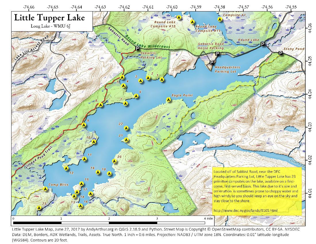 Map: Little Tupper Lake