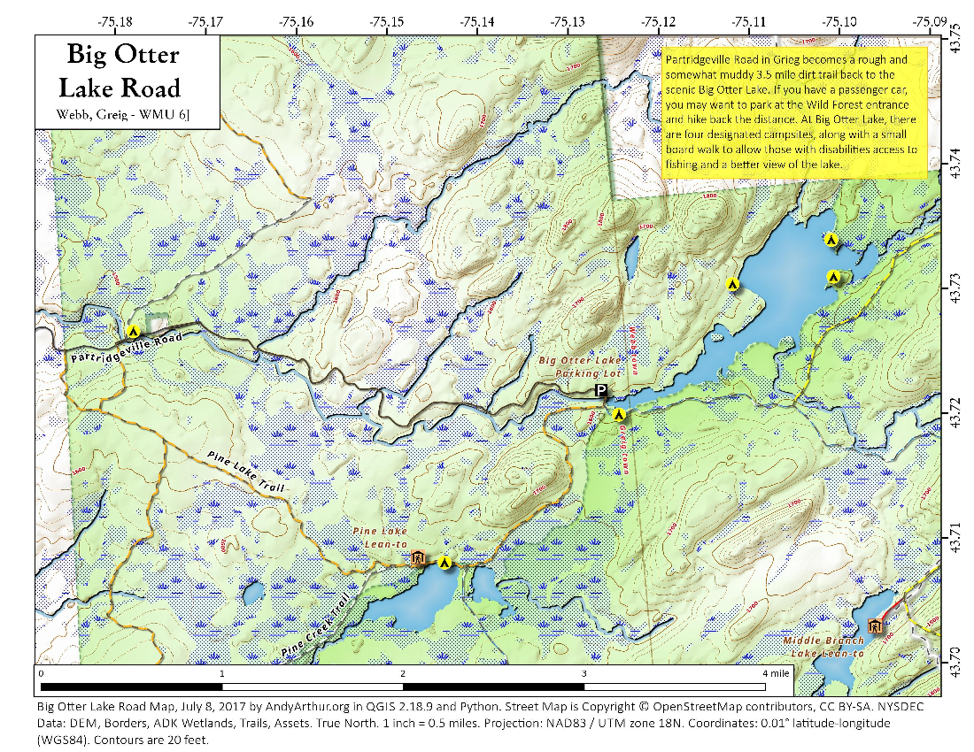 Map: Big Otter Lake Road