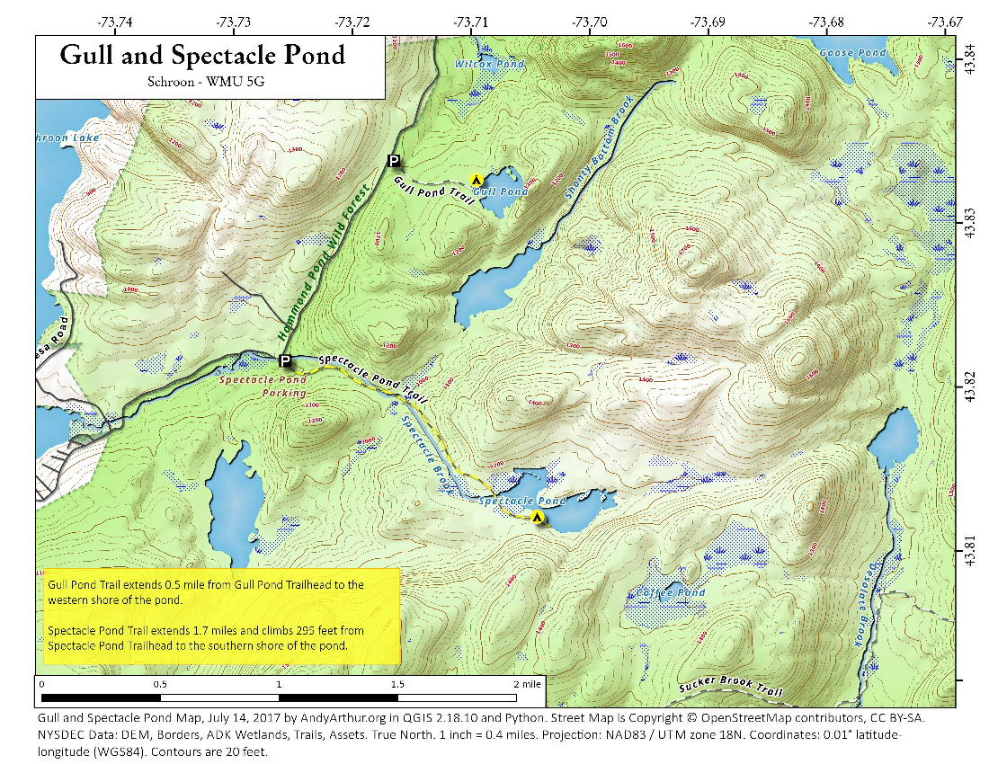Map: Gull And Spectacle Pond