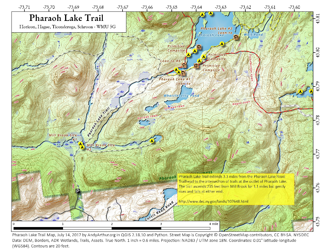 Map: Pharaoh Lake Trail