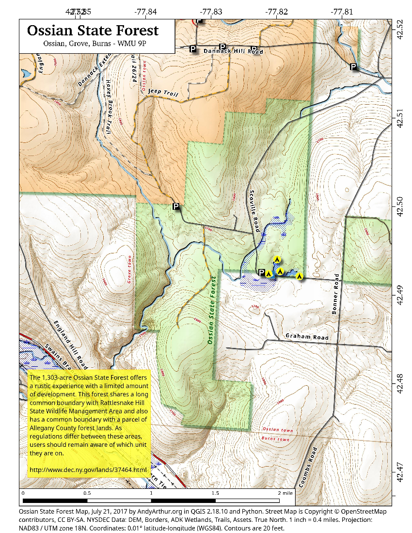 Map: Ossian State Forest