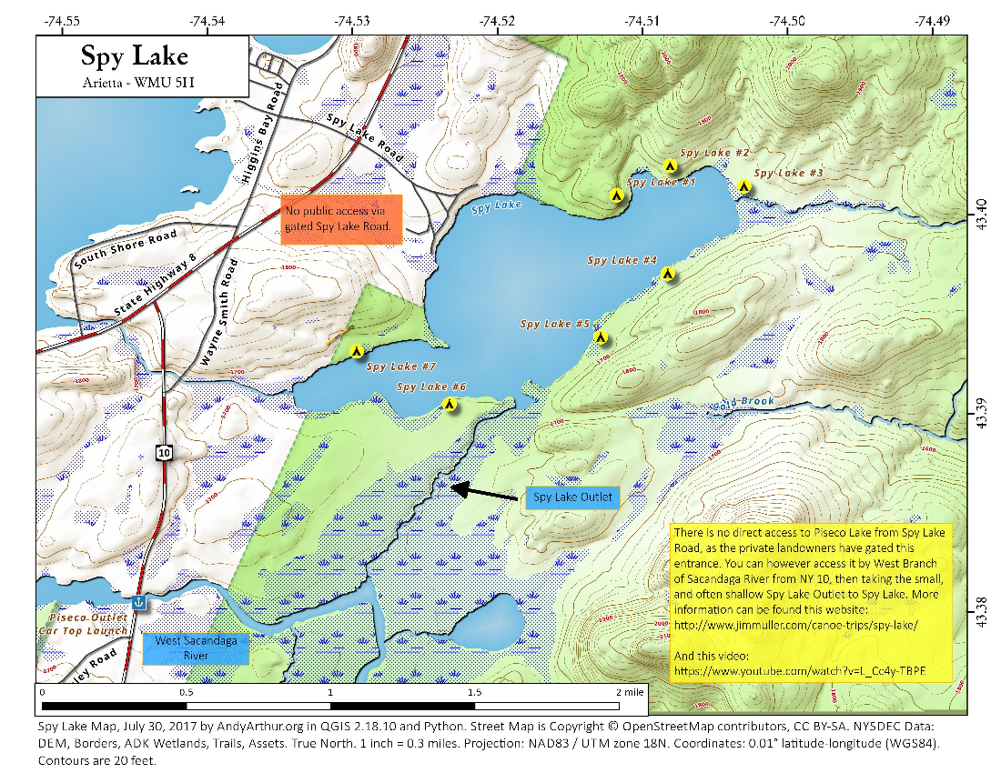 Map: Spy Lake