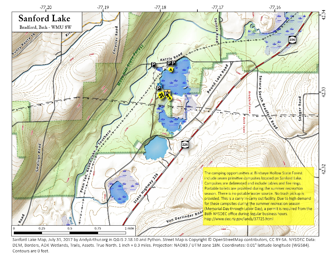 Map: Sanford Lake