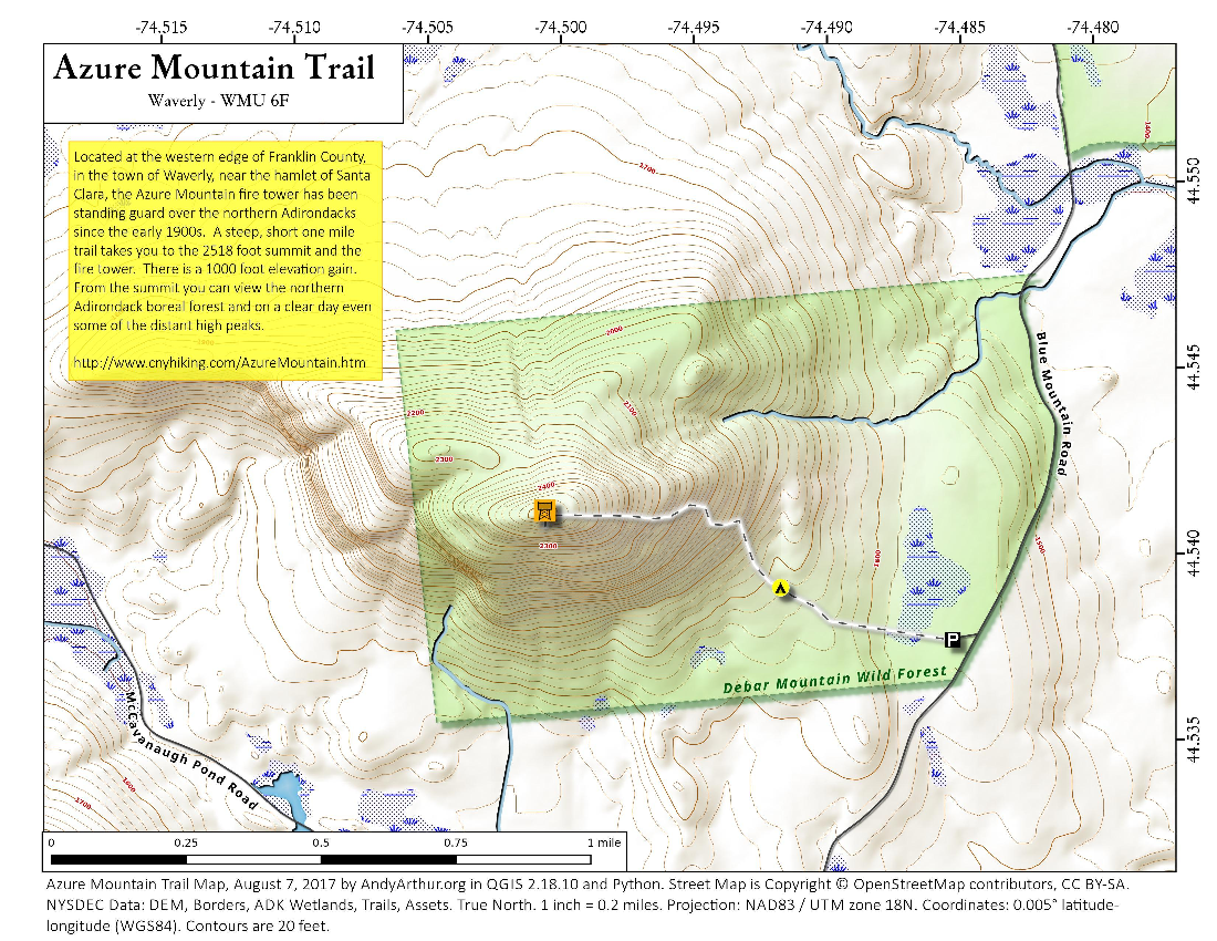 Map: Azure Mountain Trail