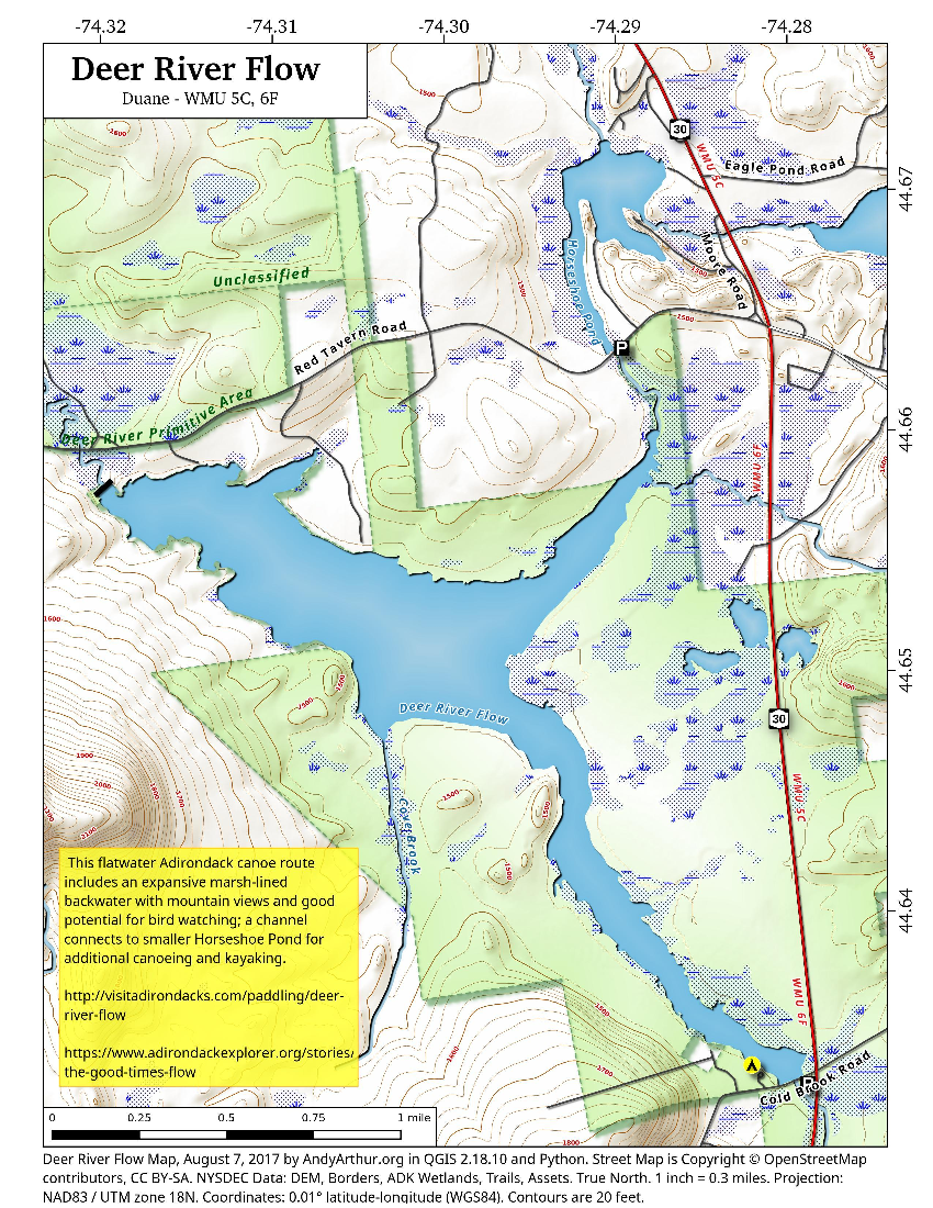 Map: Deer River Flow