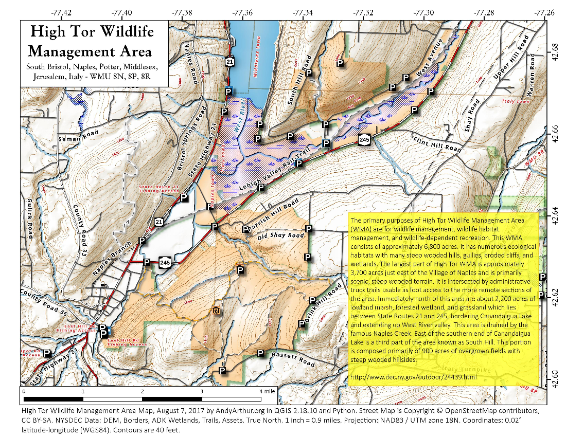 Map: High Tor Wildlife Management Area
