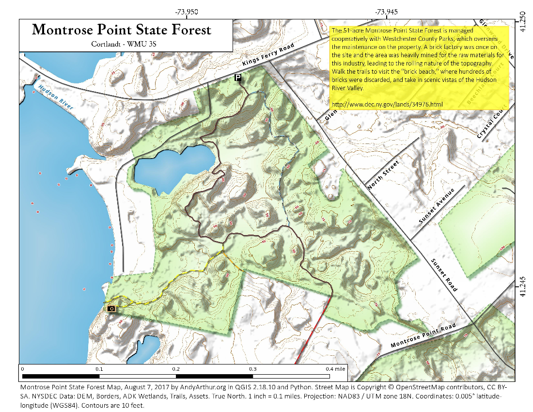 Map: Montrose Point State Forest