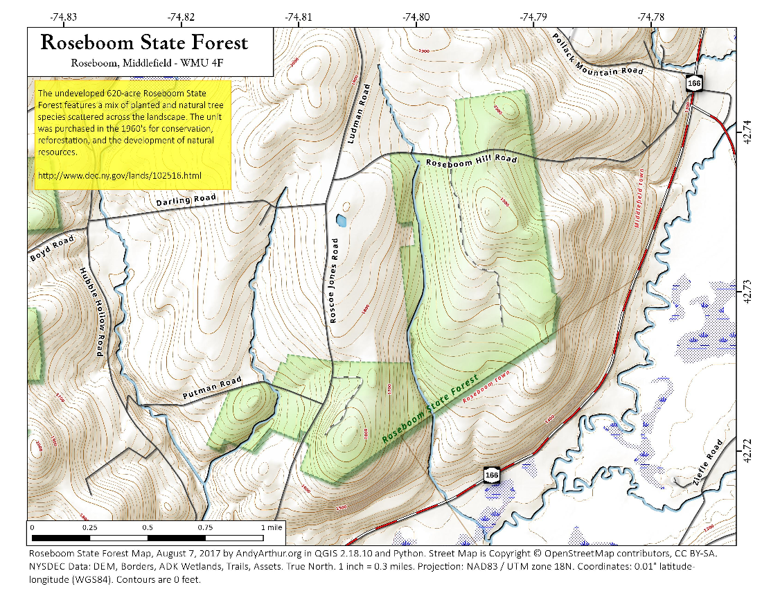 Map: Roseboom State Forest