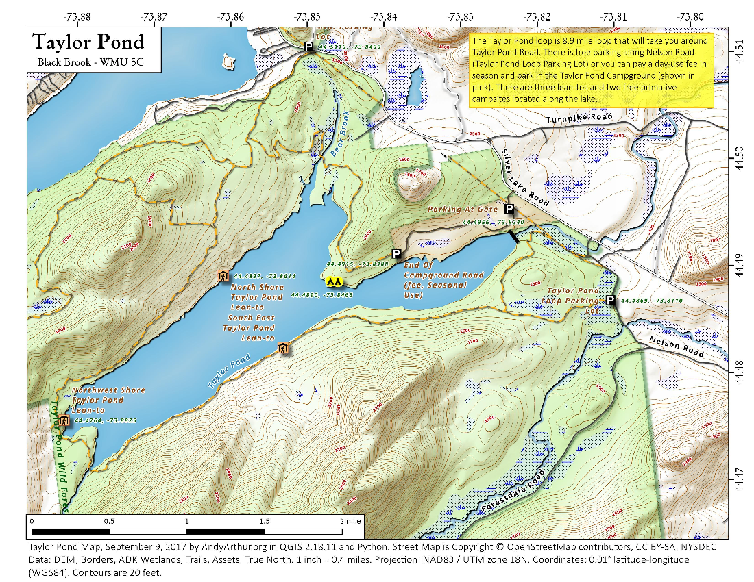 Map: Taylor Pond