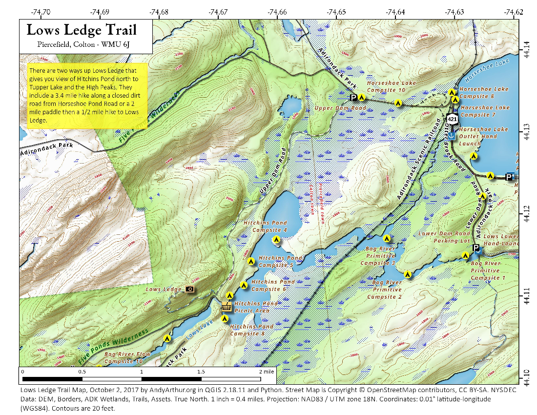 Map: Lows Ledge Trail