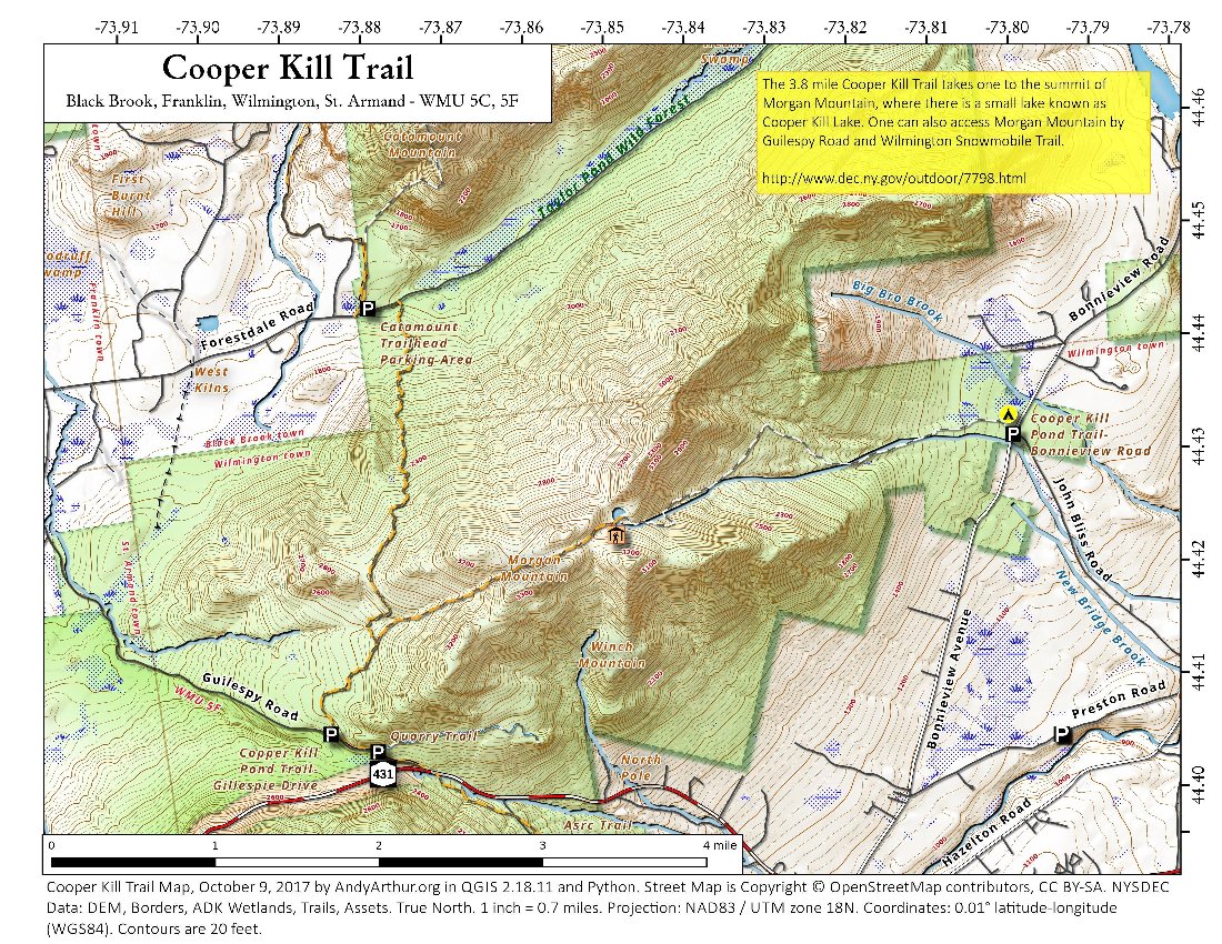 Map: Cooper Kill Trail