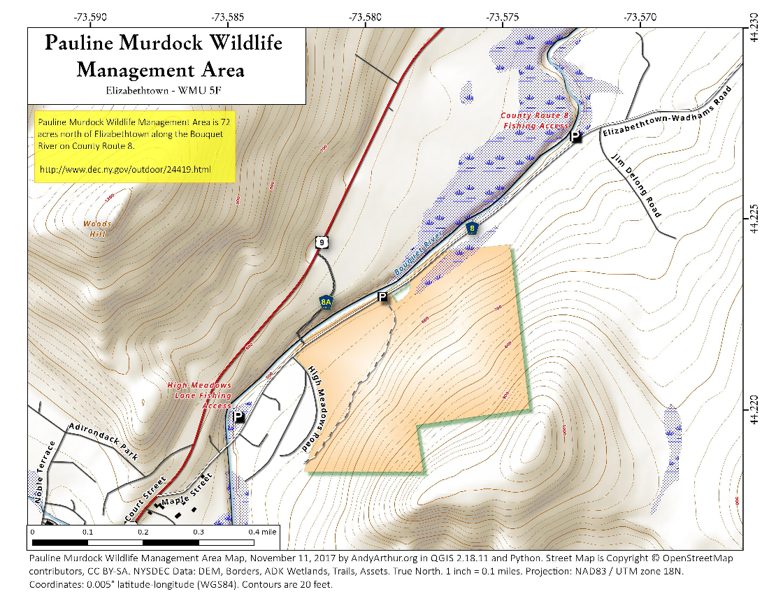 Map: Pauline Murdock Wildlife Management Area