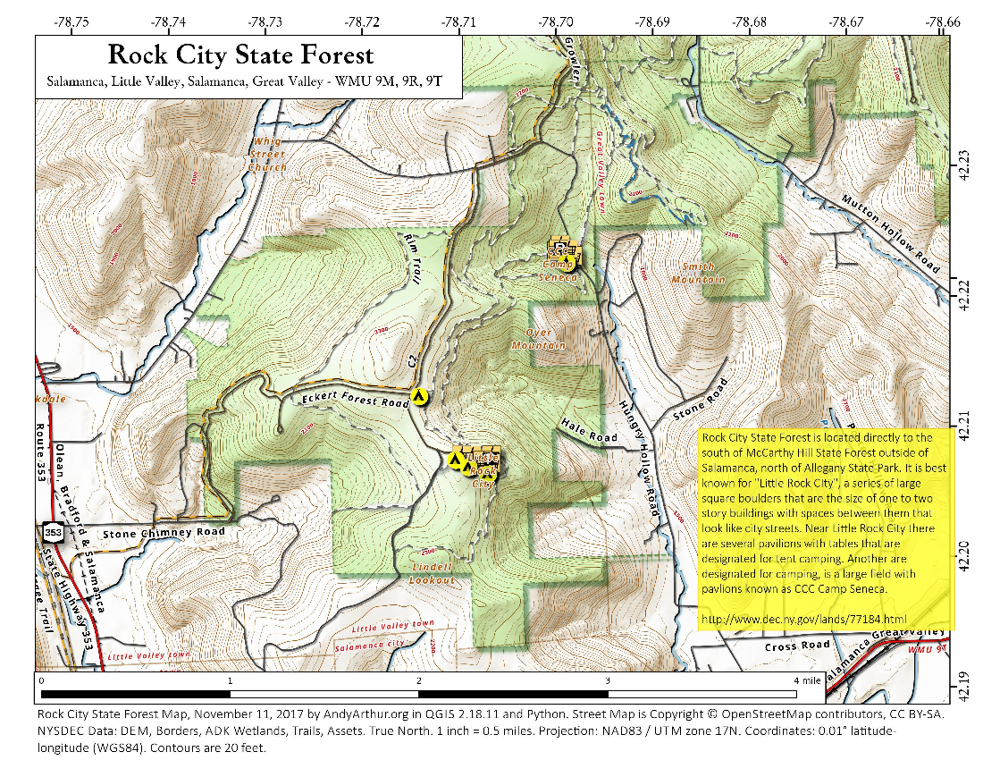 Map: Rock City State Forest