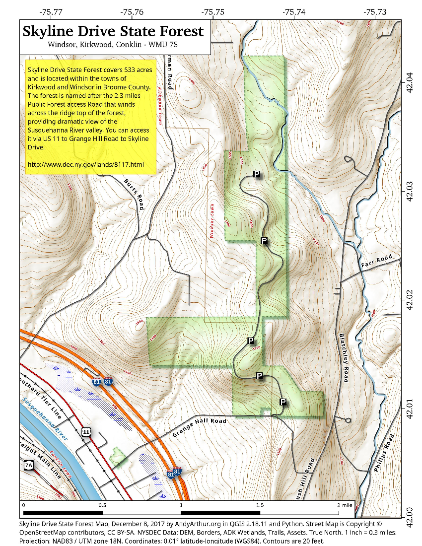 Map: Skyline Drive State Forest