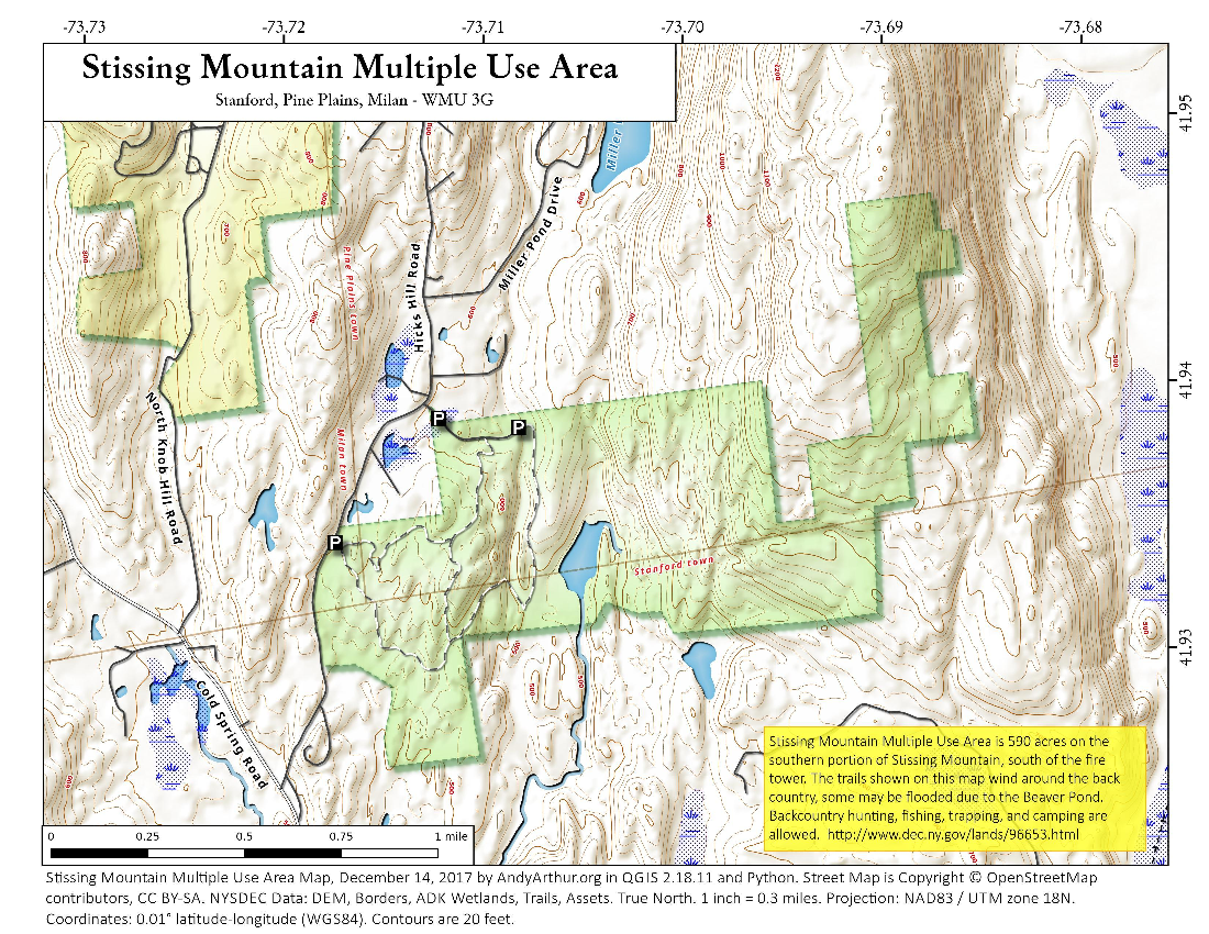 Map: Stissing Mountain Multiple Use Area